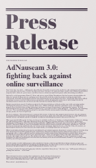 Adnauseam 3.0 Press Release